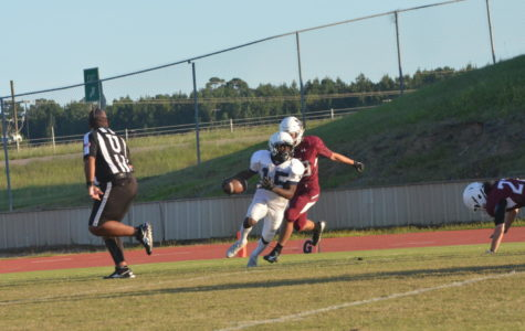 Sophomore Andre Thomas with the ball.