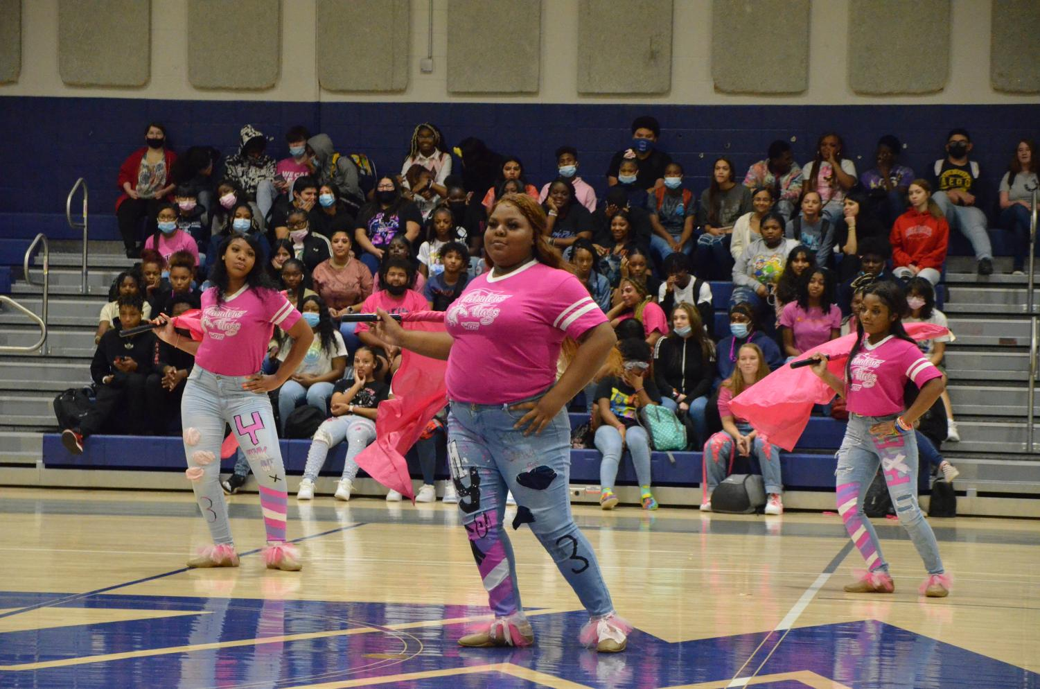 Pink+Out+Pep+Rally+Honors+Hunter